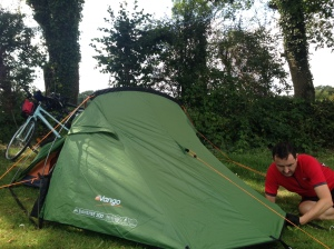Firs tent pitch